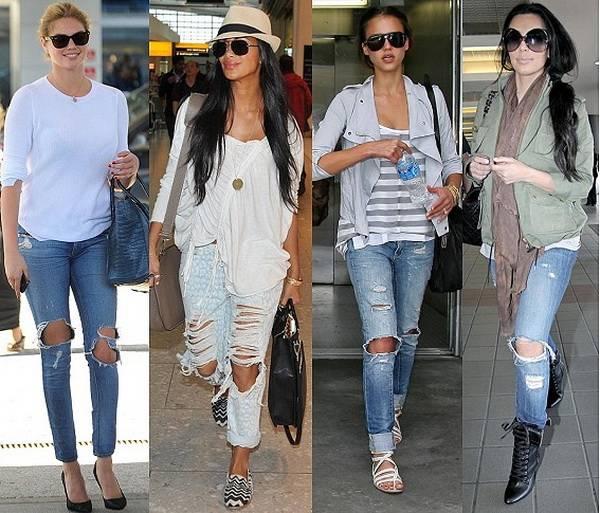 Прорехи на джинсах