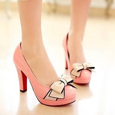 туфли на каблуке с округлым носком,