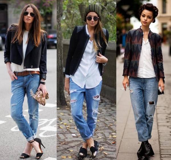 джинсы с отворотами