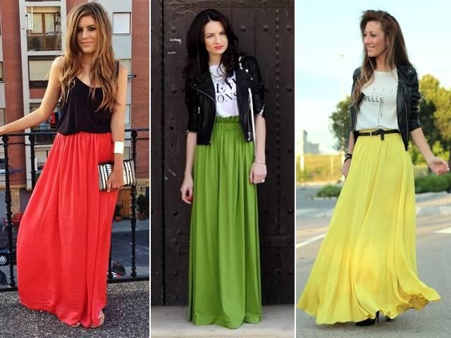 длинные юбки полусолнце