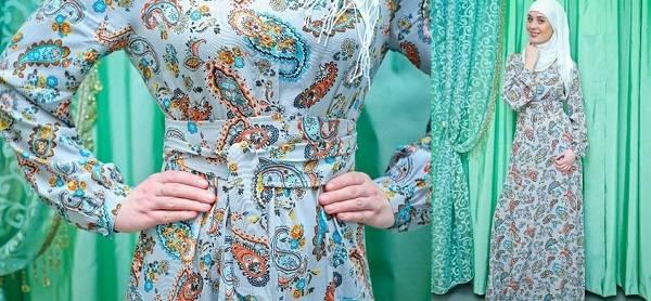 платье из штапеля для мусульманки