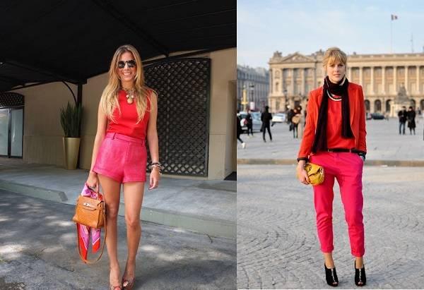 красивая красная блуза