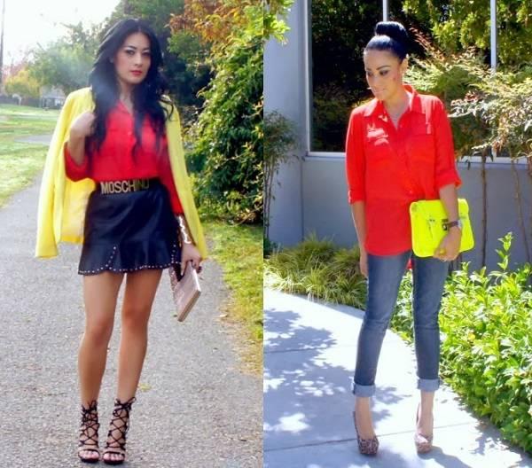 красные блузы