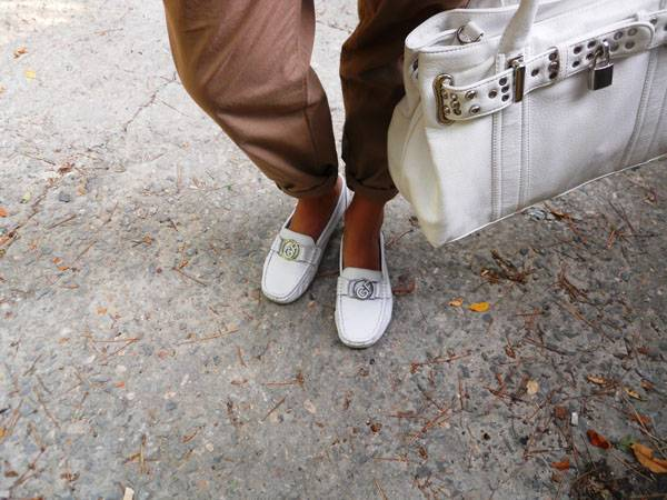 мокасины с брюками