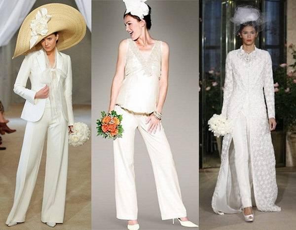 свадебный женский костюм