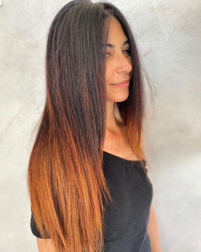 Стрижка каскад на прямыхдлинных волосах