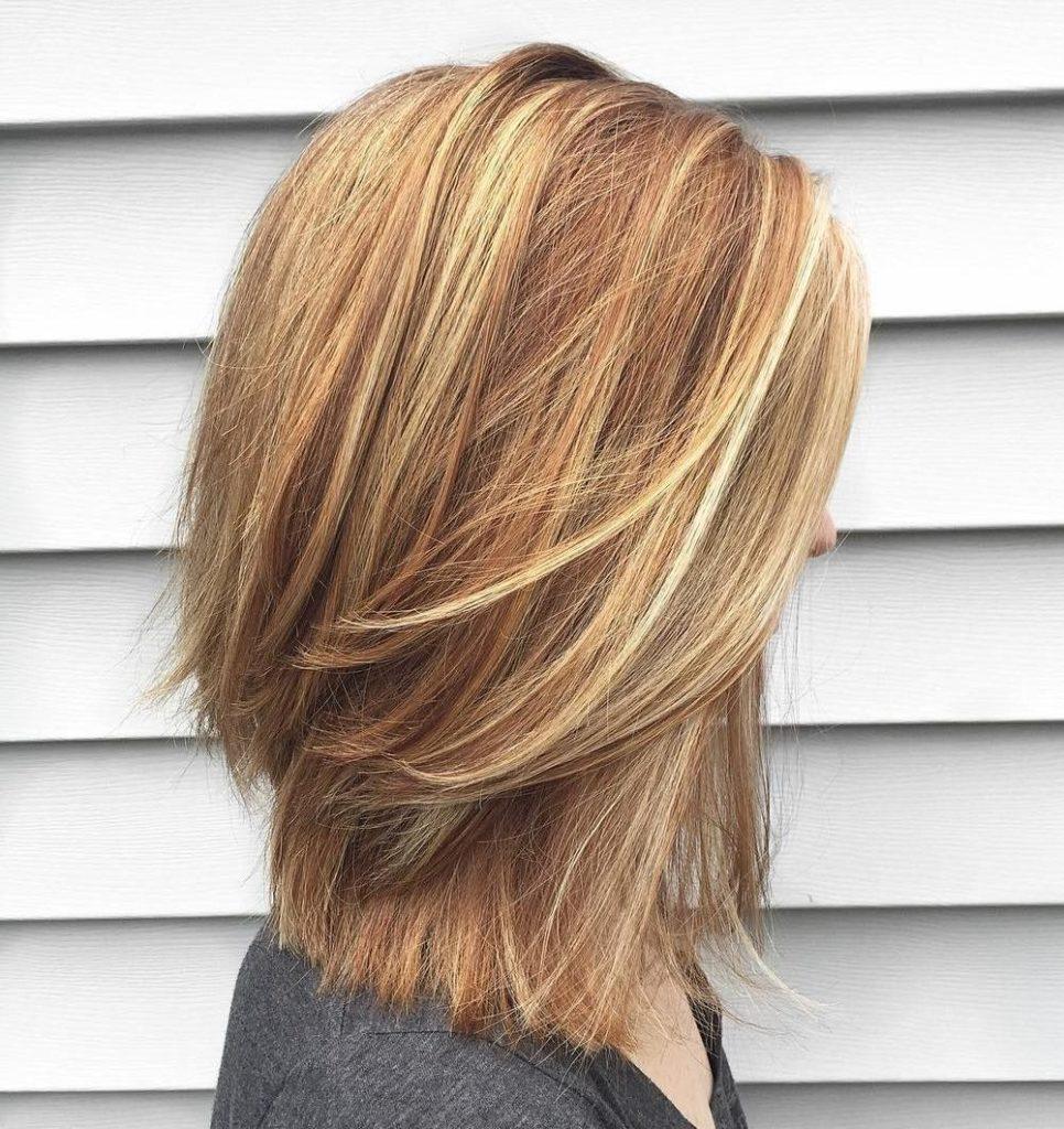 Каскад на прямые волосы