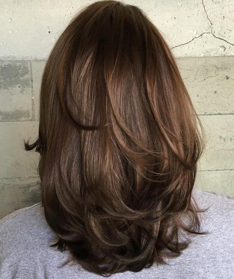 Каскад на густые волосы